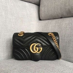 AUTHENTIC GUCCI marmont bag BLACK